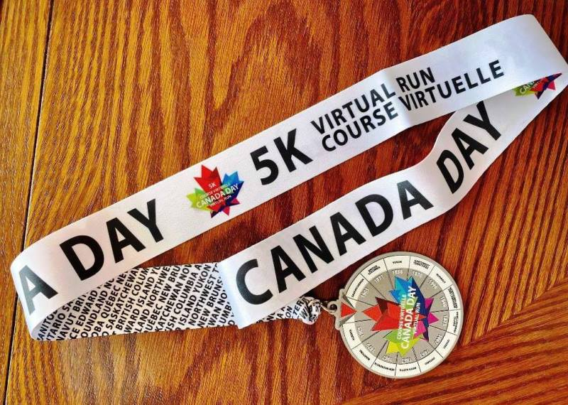 Canada Day virtual run 5k medal